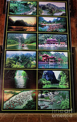 Photograph - Tam Coc Picture Display  by Chuck Kuhn