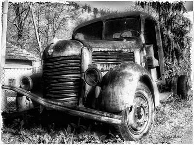 Tam Truck Black And White Art Print by Marko Mitic