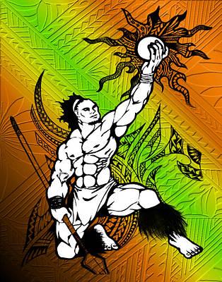 Tongan Drawing - Tama by Tawsh Lav