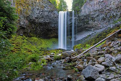 Wall Art - Photograph - Tamanawas Falls Along Cold Spring Creek In Oregon Closeup by David Gn