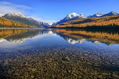 Photograph - Tamarack Glory At Bowman Lake by Jack Bell