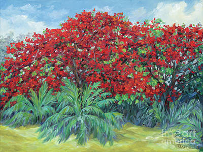 Flamboyant Tree Painting - Tamarind by Danielle Perry