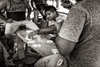 Photograph - Tamarindo Card Players by James David Phenicie