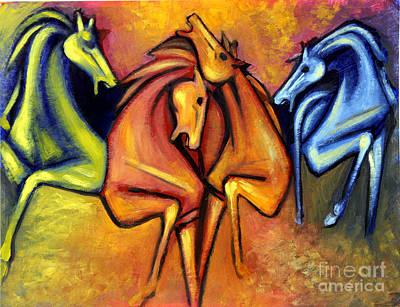 Art By Silvana Gabudean Painting - Tame Horses by Masoud Farshchi