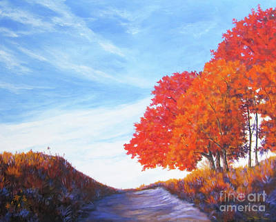Painting - Tammy's Trees Too by Anne Marie Brown
