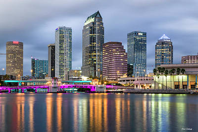 Photograph - Tampa After Dark by Fran Gallogly