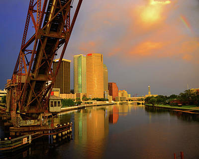 Photograph - Tampa And Rainbow by David Lee Thompson