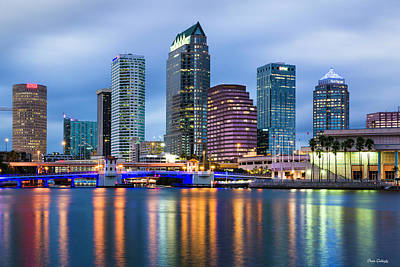 Photograph - Tampa At Night by Fran Gallogly