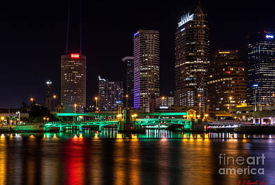 Photograph - Tampa At Night by Sue Karski