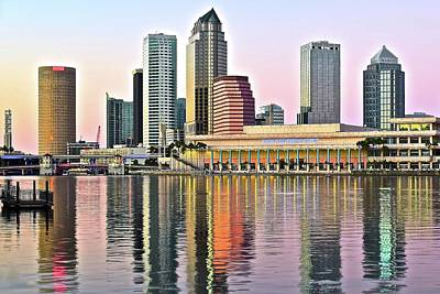 Photograph - Tampa Bay Alive With Color by Frozen in Time Fine Art Photography