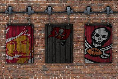 Tampa Bay Buccaneers Brick Wall Art Print by Joe Hamilton