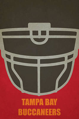 Football Painting - Tampa Bay Buccaneers Helmet Art by Joe Hamilton