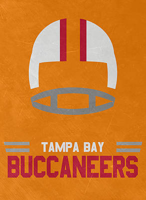 Mixed Media - Tampa Bay Buccaneers Vintage Art by Joe Hamilton