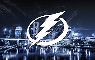 Digital Art - Tampa Bay Lightning Artwork  by Nicholas Legault