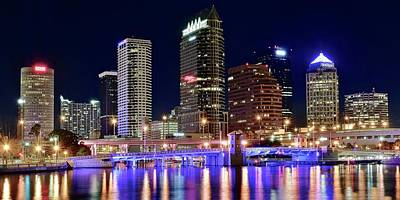 Photograph - Tampa Bay Pano Lights by Frozen in Time Fine Art Photography