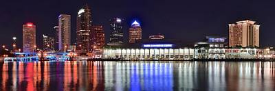 Bath Time Rights Managed Images - Tampa Bay Panorama Royalty-Free Image by Frozen in Time Fine Art Photography