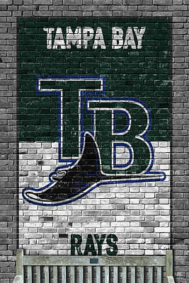 Painting - Tampa Bay Rays Brick Wall by Joe Hamilton