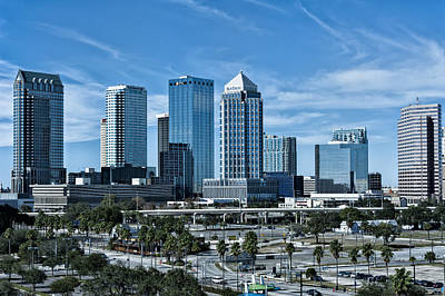 Photograph - Tampa Bay Skyline by Linda Constant