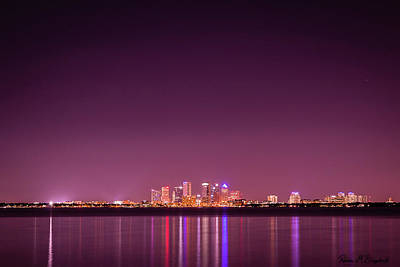 Photograph - Tampa Bay Skyline by Robin Blaylock