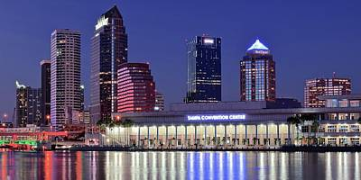 Riverwalk Photograph - Tampa Convention Center by Frozen in Time Fine Art Photography