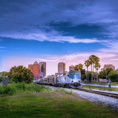 Tampa Departure Art Print by Marvin Spates