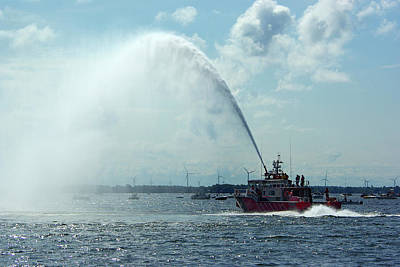 Tampa Fire Rescue Boat Art Print