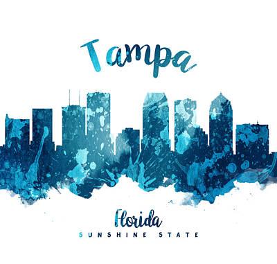 Florida Digital Art - Tampa Florida 27 by Aged Pixel
