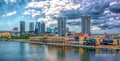 Photograph - Tampa Florida Skyline by Sue Melvin