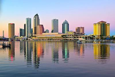 Kids Alphabet - Tampa in Dazzling Sunset Colors by Frozen in Time Fine Art Photography