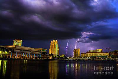 Photograph - Tampa Lightning by Quinn Sedam