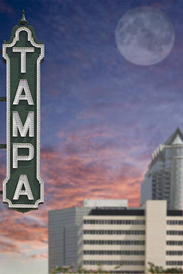 Photograph - Tampa Sign by Al Hurley