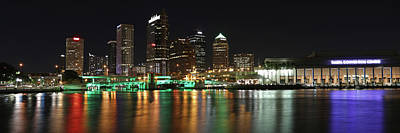 Photograph - Tampa Skyline At Night by Jack Nevitt