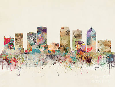 Painting - Tampa Skyline by Bleu Bri