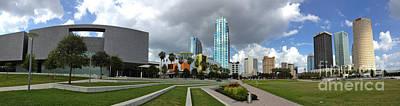 Jason Day Photograph - Tampa Skyline - Panoramic by Jason Freedman