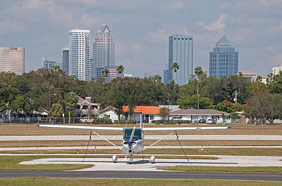 Photograph - Tampa Skyline With Peter O Knight Airport by John Black