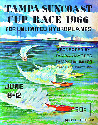Photograph - Tampa Suncoast Cup Race 1966 by David Lee Thompson