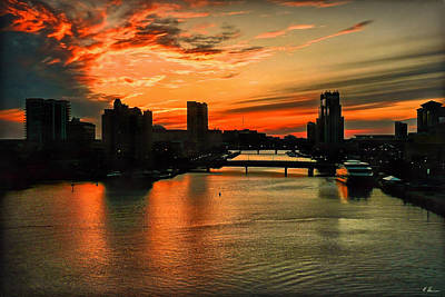 Photograph - Tampa Sunset by Hanny Heim