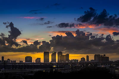 Tampa Skyline Photograph - Tampa Sunset by Marvin Spates
