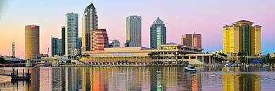 Photograph - Tampa Sunset Panoramic Scene by Frozen in Time Fine Art Photography