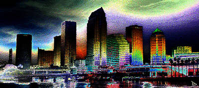 Painting - Tampa The Bold City by David Lee Thompson