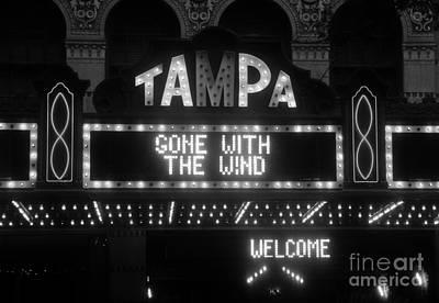 Tampa Theatre 1939 Art Print by David Lee Thompson