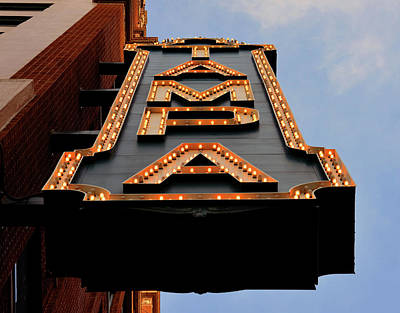Photograph - Tampa Theatre Sign Work 10 by David Lee Thompson