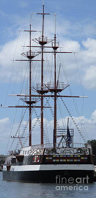 Photograph - Tampa Three Masted Schooner by Randall Weidner