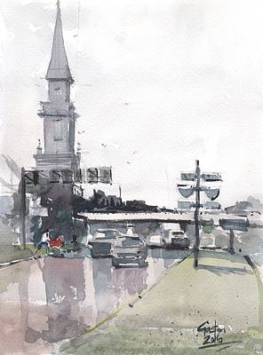 Painting - Tampa Tower At Hillsborough Intersection by Gaston McKenzie