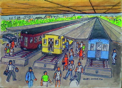Painting - Tampa Train Station With Portsmouth Ohio Railroads by Frank Hunter
