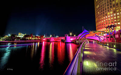 Photograph - Tampa's Downtown Riverwalk by Rene Triay Photography