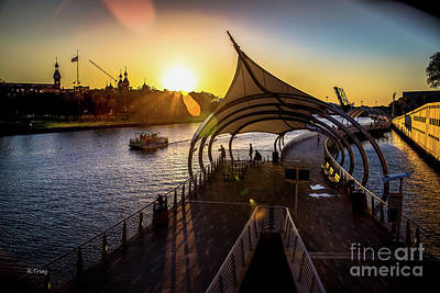 Photograph - Tampa's Riverwalk At Dusk by Rene Triay Photography
