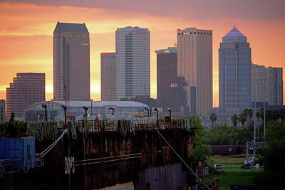 Photograph - Tampa's Skyline From The Port by Daniel Woodrum