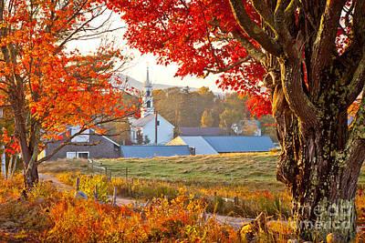 Photograph - Tamworth Farm In Autumn by Susan Cole Kelly