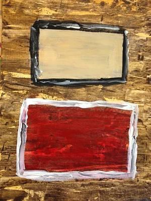Tan And Red Art Print